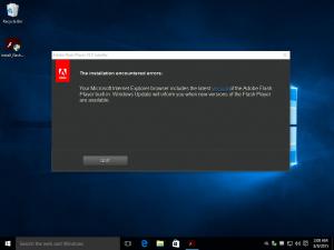 Flash Player installer ve Windows 10