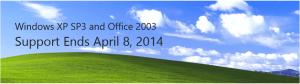 Konec podpory pro Windows XP a Office 2003 v dubnu 2014